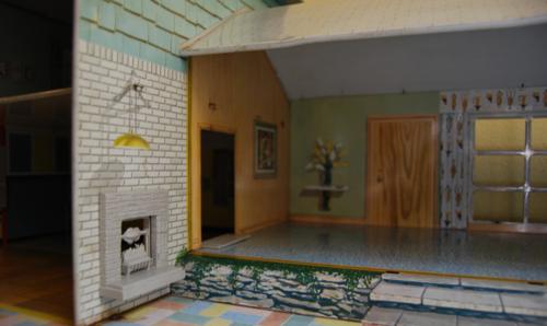 Marx vintage tin house 50s 9