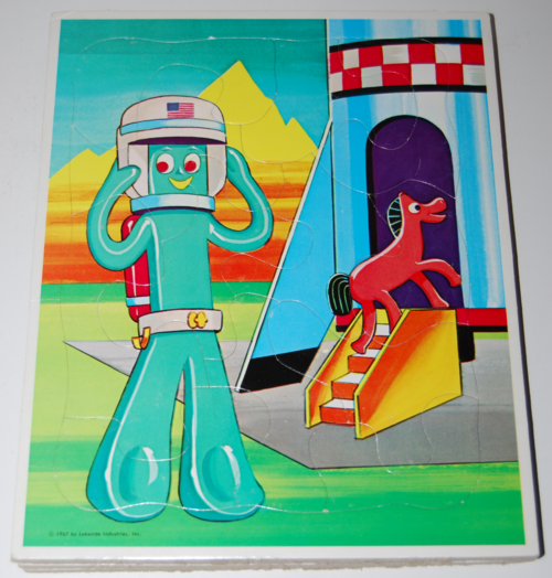 Gumby puzzle lakeside 1967 3
