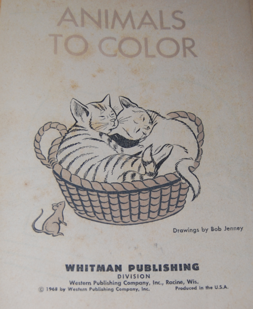 Whitman animals to color 1968
