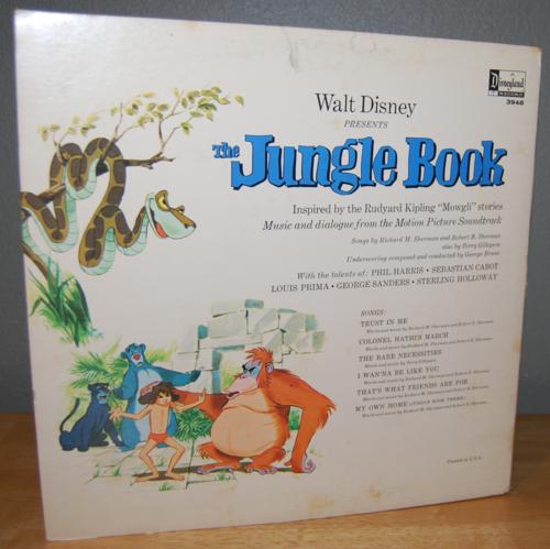 Disney jungle book vinyl lp x
