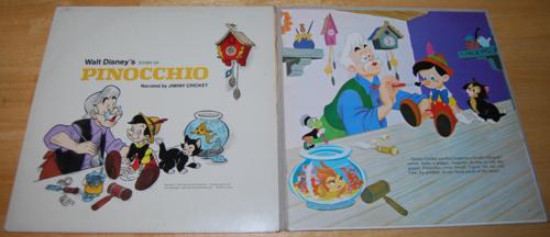 Disney pinnochio vinyl lp 2
