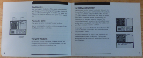 Shadowgate nes instruction booklet 2