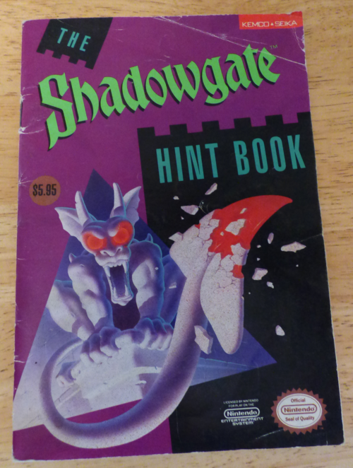 Shadowgate nes hint book