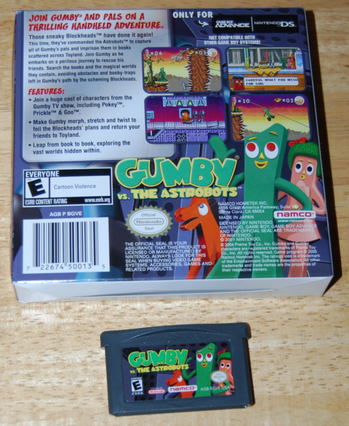 Gumby vs the astrobots gameboy advance game 1