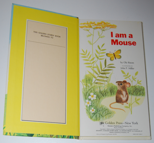 I am a mouse book 1