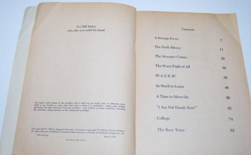 Helen keller scholastic book 1973