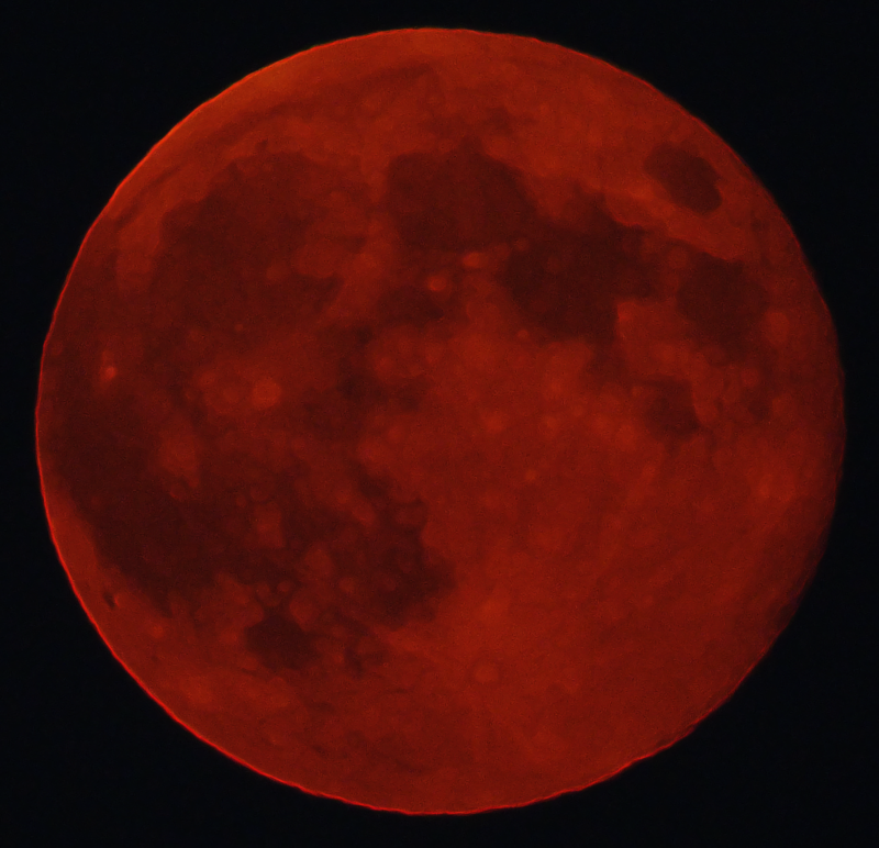 Rocky butte blood moon