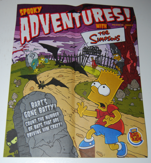 The simpsons spooky adventures bk toys