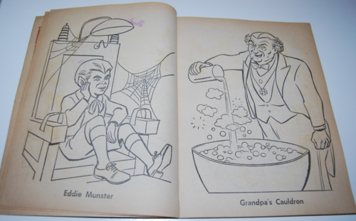 The munsters whitman coloring book 3