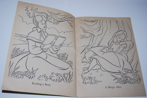 Alice in wonderland coloring book 1