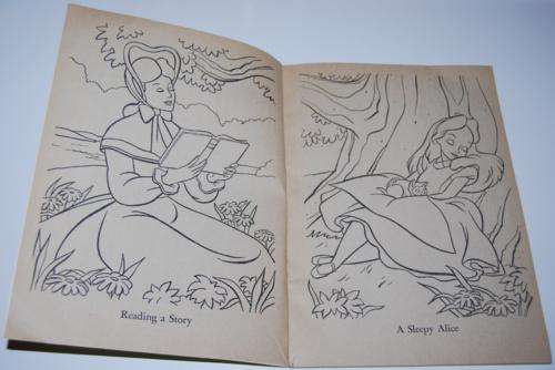 alice in wonderland coloring book - lost & found vintage toys