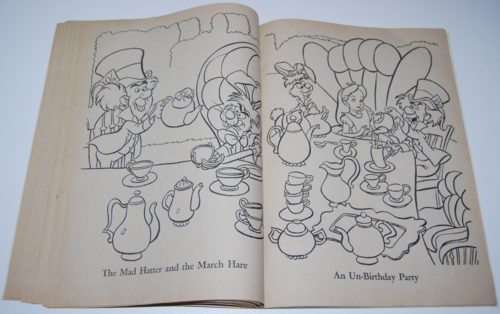 Alice in wonderland coloring book 10