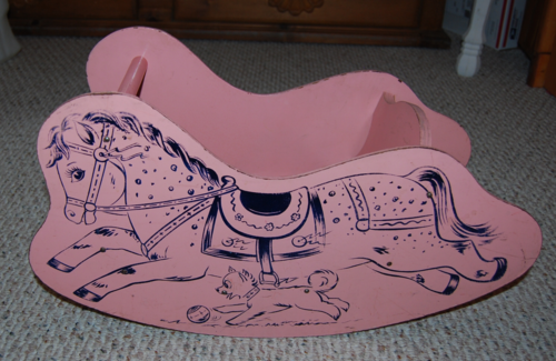 Vintage wooden child rocking horse