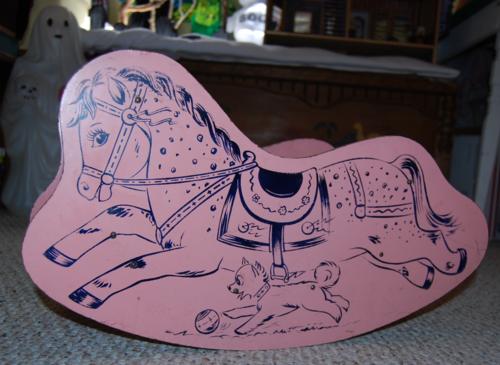 Vintage wooden child rocking horse 3