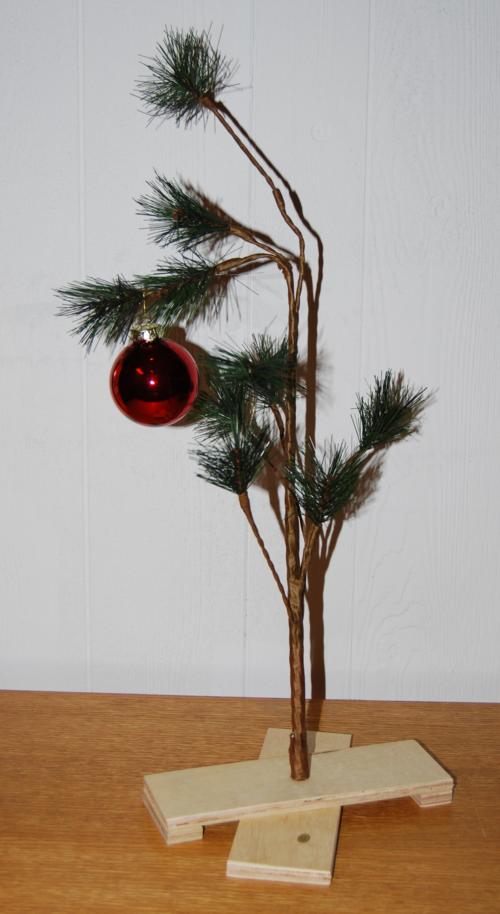 Charlie brown xmas tree x 1