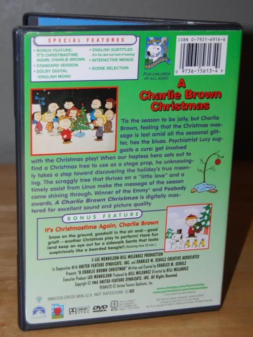 Charlie brown xmas dvd x