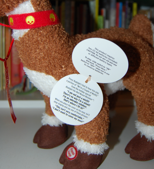 Singing rudolph plush toy 1