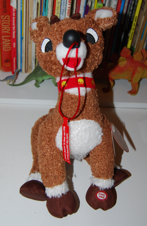 Singing rudolph plush toy x