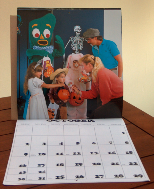 1988 gumby calendar x