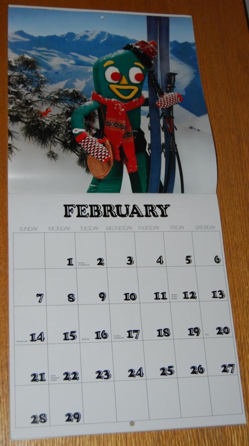 Gumby calendar 2