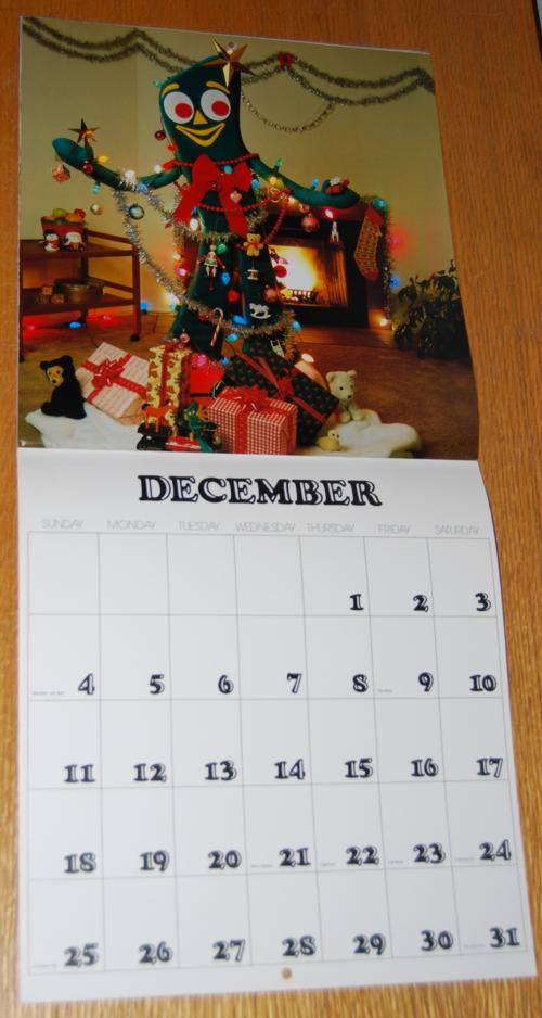 Gumby calendar 6