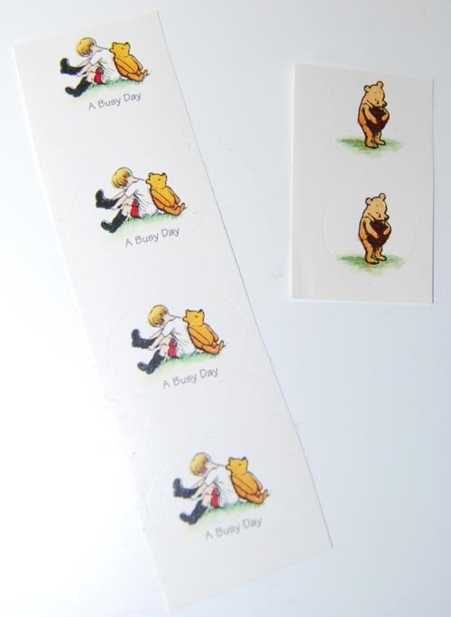 Pooh stickers