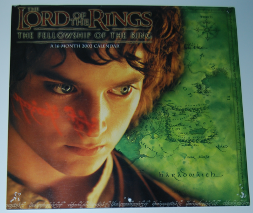 Lord of the rings 2002 calendar