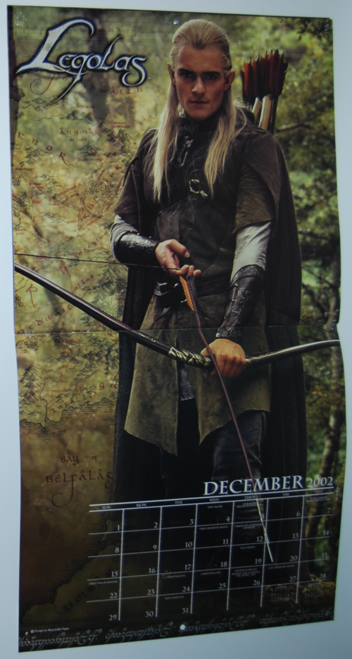 Lord of the rings 2002 calendar 4
