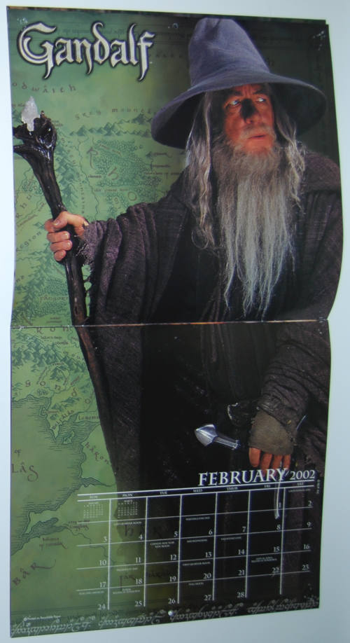Lord of the rings 2002 calendar 5