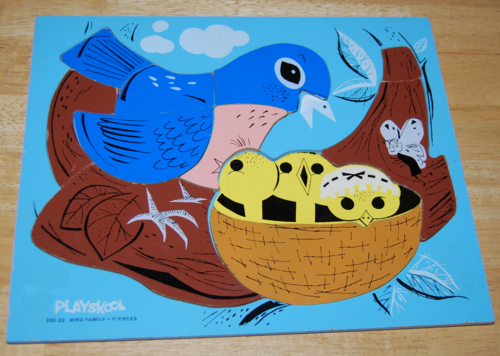 Playskool wooden puzzle bird family