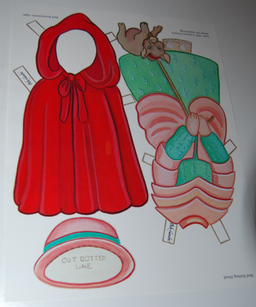 Little red riding hood paper dolls 4