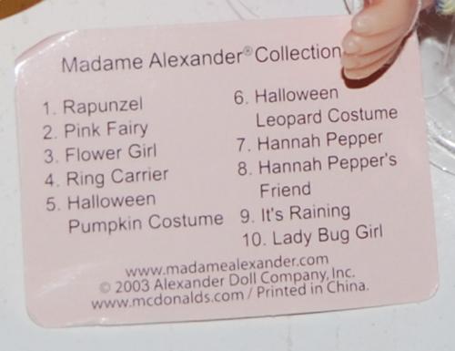 Madame alexander doll mcd 4x