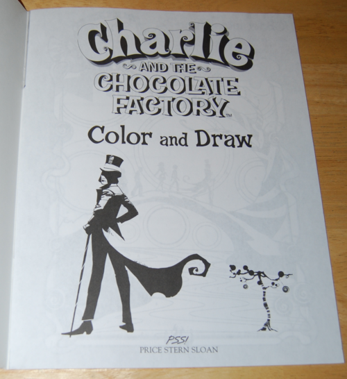 Charlie & the chocolate factory coloring book 1