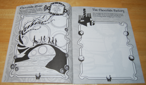 Charlie & the chocolate factory coloring book 2