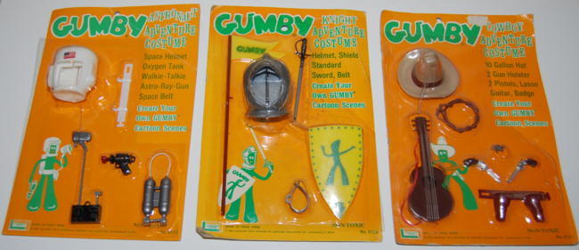vintage gumby adventure outfits