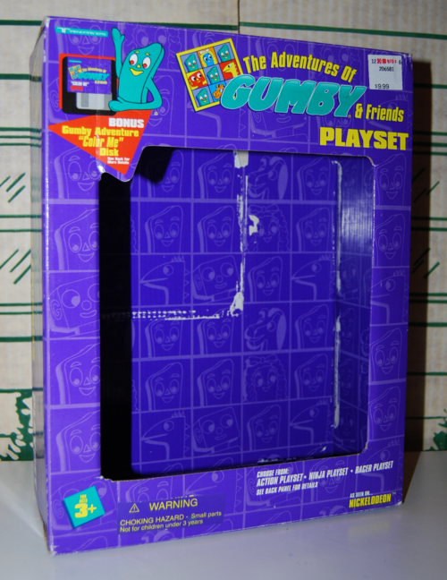 Gumby playset box