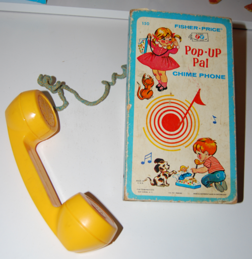 Vintage fisher price pop up pal chime phone 6