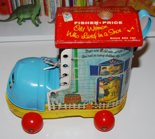 Vintage fisher price old woman who lived in a shoe 1