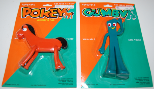 Gumby & pokey bendy toys nj croce prema