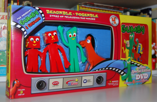 Gumby bendys & dvd set