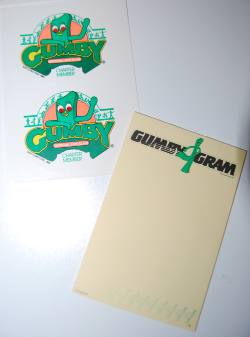 Gumby fan club stuff 2