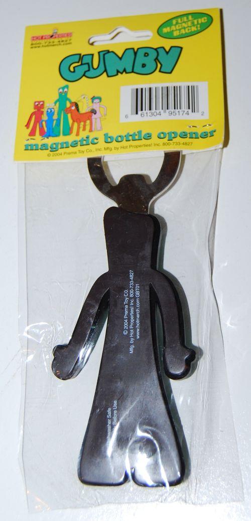 Gumby magnetic bottle opener prema 2004 x