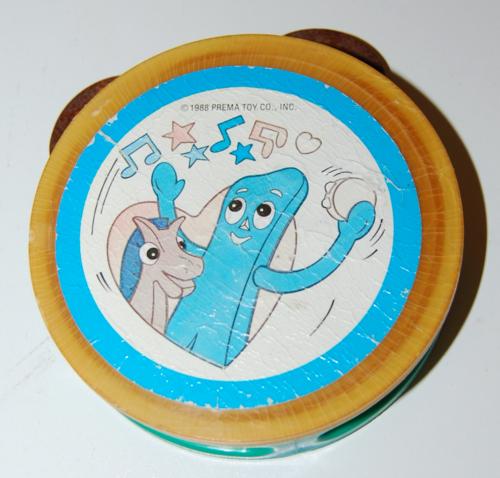 Gumby tamborine toy prema 1988