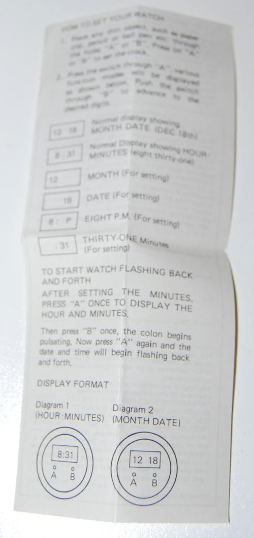 Gumby lcd quartz watch prema 1985 lewco 4