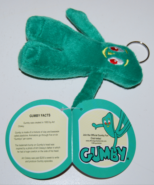 Gumby keychains plush 1