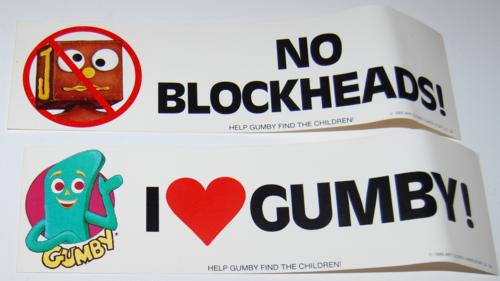 Gumby bumperstickers