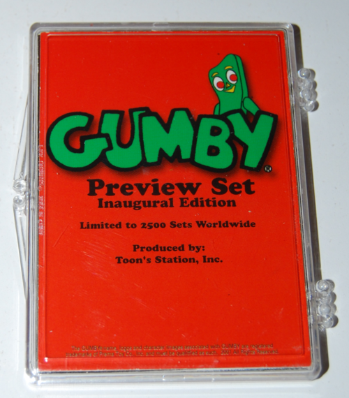 Gumby collector card preview set