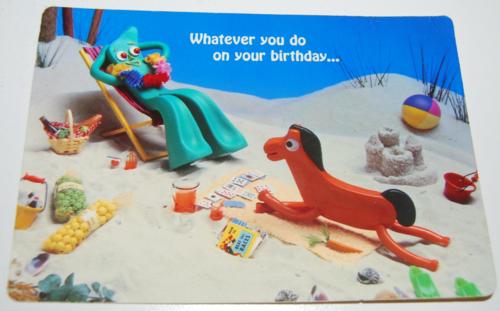 Gumby birthday card