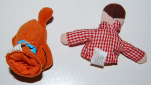 Davey & goliath finger puppets x