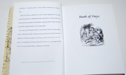 Alice's adventures underground book of days 3